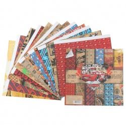 """Набор бумаги """"Твоя дорога - твои правила"""", Тачки, 29,5х29,5 см, 12 листов"""