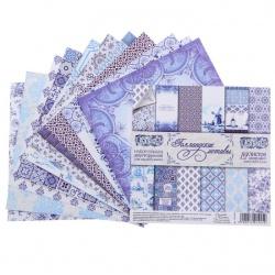 """Набор бумаги """"Голландские мотивы"""" 14,5х14,5 см, 12 листов"""