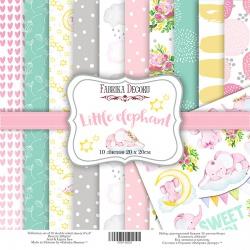 """Набор бумаги """"Little elephant"""", 20x20см"""