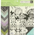 "Набор бумаги K&Company ""Black & Ivory Fusion "" 30х30 см, 12 листов"