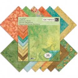 "Набор бумаги K&Company ""Susan Winget Nature"" 30х30 см, 12 листов"