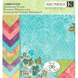 "Набор бумаги K&Company ""Abrianna"" 30х30 см, 12 листов"