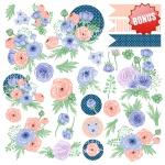 """Набор бумаги """"Flower mood"""", 20x20см"""
