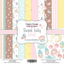 """Набор бумаги """"Sweet baby girl"""", 30x30см"""