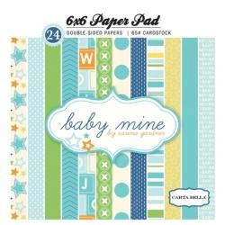 "Набор бумаги Echo Park ""Baby Mine Boy"", 15х15 см, 24 листа"