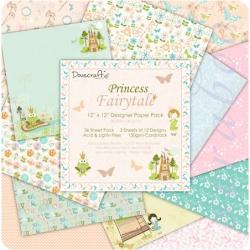 "Набор бумаги  ""Princess Fairytale"", 30х30 см, 12 листов"