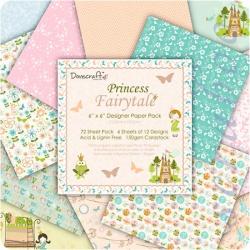"Набор бумаги ""Princess Fairytale"", 15х15 см, 12 листов"