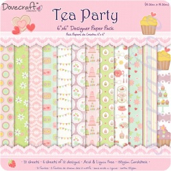 "Набор бумаги ""Tea Party"", 15х15 см, 12 листов"
