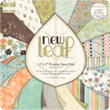 "Набор бумаги  ""New Leaf"", 30х30 см, 16 листов"