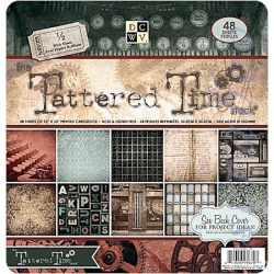 "Набор бумаги  ""Tattered Time"", 30х30 см, 24 листа"