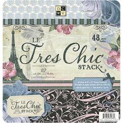 "Набор бумаги  ""Le Tres Chic"", 30х30 см, 24 листа"