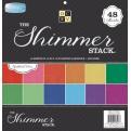 """Набор кардстока """"Shimmer Solid"""", жемчужный, 30х30см, 12 листов"""