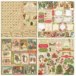 """Набор бумаги """"Ночь перед Рождеством"""" 30х30 см, 12 листов"""