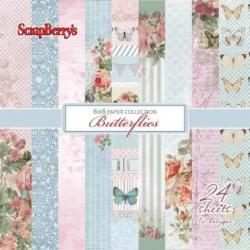"Набор бумаги ""Бабочки"" 15х15 см, 24 листа"
