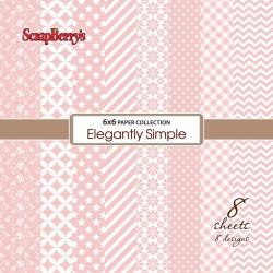 """Набор бумаги """"Элегантно Просто"""" Розовый Кварц 15х15 см, 8 листов"""