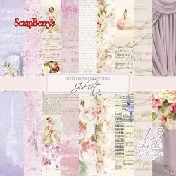 """Набор бумаги """"Джульетта"""" 15х15 см, 12 листов"""