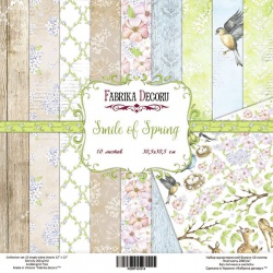 "Набор бумаги ""Smile of Spring"", 30х30см, 10 листов"