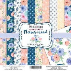"""Набор бумаги """"Flower mood"""", 30x30см"""