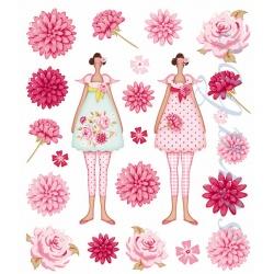 Набор наклеек Flowergarden