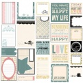 Лист с карточками-вырубками Classic Elegance, 30х30см