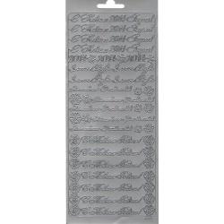 """Контурные наклейки """"Новый год и Рождество"""", серебро"""