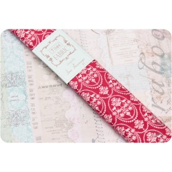Ткань Tilda fabric Bird ornament red, 50х70 см