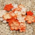 Набор цветов Prima оранжевый  микс, 24 шт