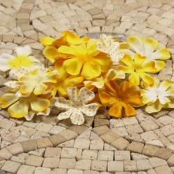 Набор цветов Prima жёлтый  микс, 24 шт