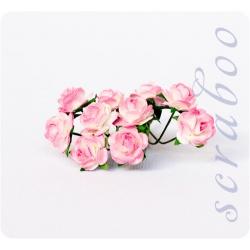 Букет бело-розовых роз, 10 мм