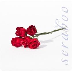 Бутоны красных роз, 5 шт