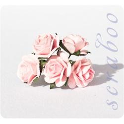 Светло-розовые розы, 20 мм, 5 шт