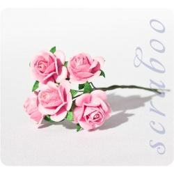 Розовые розы, 20 мм
