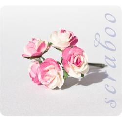 Бело-розовые розы, 20 мм
