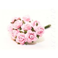 Розы светло-розовые, 10 мм, 10шт