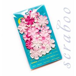 Набор цветов Prima фуксия микс, 24 шт