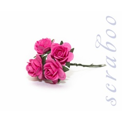 Ярко-розовые розы, 20 мм, 5 шт