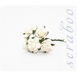 Белые розы, 20 мм, 5шт