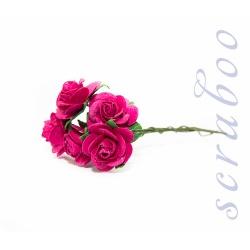 Темно-розовые розы, 20 мм, 5 шт