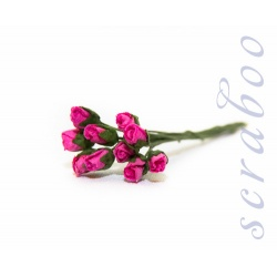 Бутоны ярко-розовых роз, 10 шт