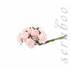 Букет бело-розовых роз, 10мм, 10шт
