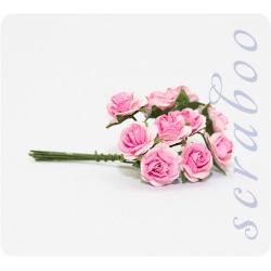 Букетик розовых роз, 10 мм, 10 шт
