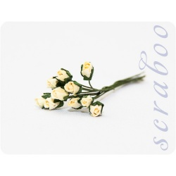Бутоны бело-кремовых роз, 10 шт