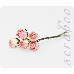 Бутоны желто-розовых роз, 5 шт