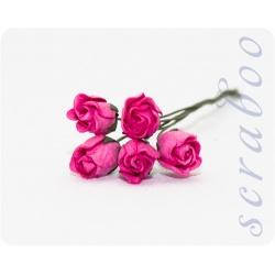 Бутоны ярко-розовых роз, 5 шт