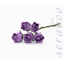 Бутоны фиолетовых роз, 5 шт