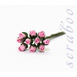 Бутоны розовых роз, 10 шт