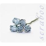 Бутоны светло-голубых роз, 5 шт