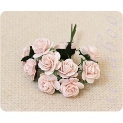 Светло-розовые розы, 20 мм, 10 шт