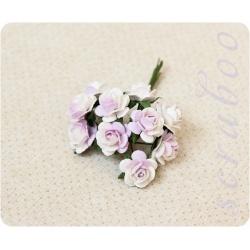 Розы светло-сиреневые с белым, 10 мм
