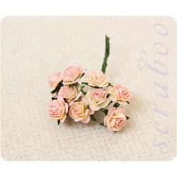 Букетик желто-розовых роз, 10мм
